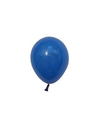 "Mini balão látex 5"" - Azul Escuro (unidade)"