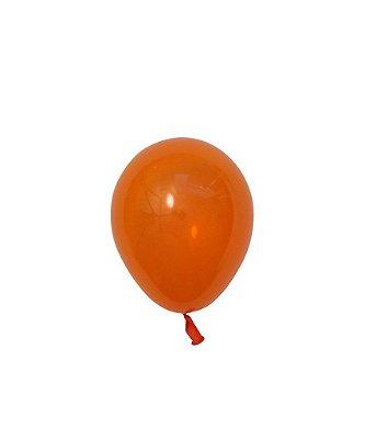"Mini balão látex 5"" - Laranja (unidade)"