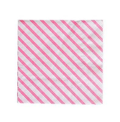 Guardanapo de papel listras Rosa - 33cm (20 unidades)
