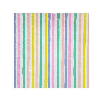 Guardanapo de papel listra Colors - (20 unidades)