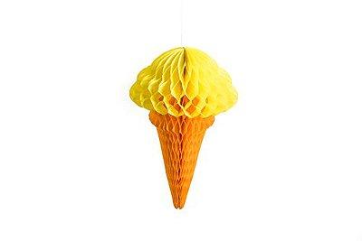 Colmeia de papel - Sorvete Amarelo
