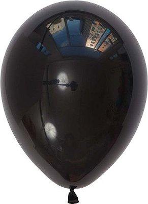 """Balão 11"""" látex - Preto (unidade)"""
