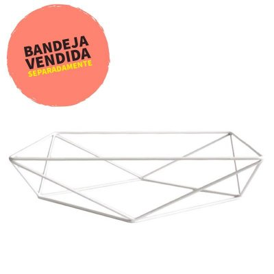 Base aramada triangular para bandeja - Branca