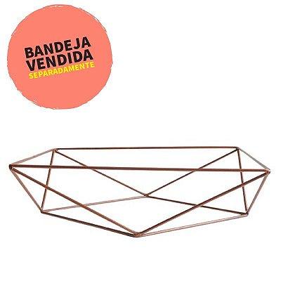 Base aramada triangular para bandeja - Cobre