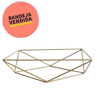 Base aramada triangular para bandeja - Dourada