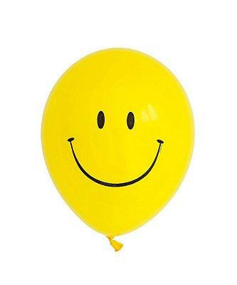 """Balão 11"""" látex - Carinha/ Emoji / Smiley (unidade)"""