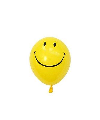 """Mini balão látex 5"""" - Carinha/Emoji (unidade)"""