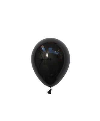 """Mini balão látex 5"""" - Preto (unidade)"""