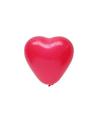 """Mini balão Coração 6"""" - Cereja Intenso (1 unidade)"""