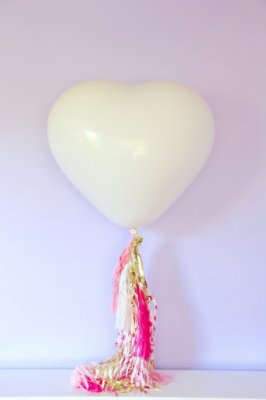 """Balão Coração gigante 36"""" - Marfim (unidade)"""