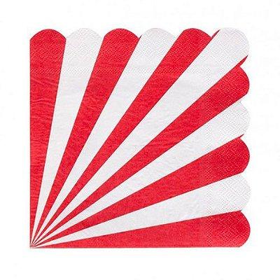 Guardanapo de papel Vermelho - 33cm (20 unidades)