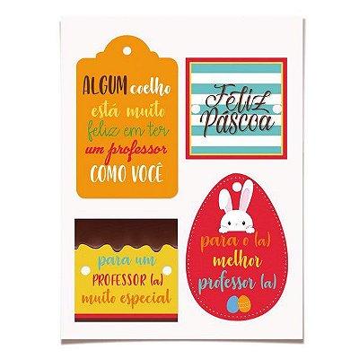 Tags de Páscoa para Professores (12 un com cordão)