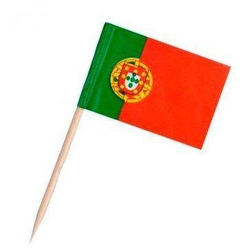 Pick dupla face - Bandeira Portugal (100 unidades)