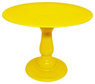 Boleira 23.5 cm altura - Amarelo (escolha o tampo)