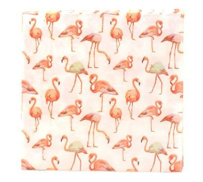 Guardanapo de papel Flamingos - 33 cm (20 un)