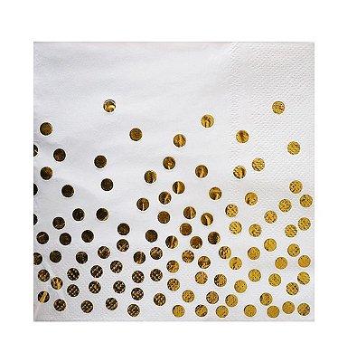 Guardanapo de papel Poá - Dourado 33 cm (20 un)
