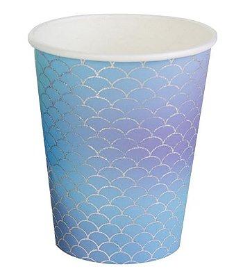 Copo de papel - Escamas furtacor Sereia (10 unidades)