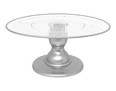 Suporte transparente filete - Prata (13.5 cm h x 32 cm)