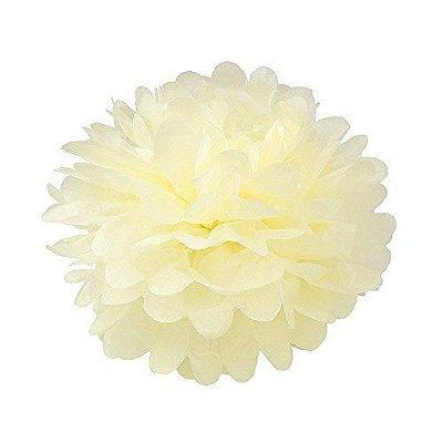 Flor papel Seda - Creme 35 cm (flor vendida fechada)