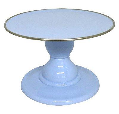 Boleira Azul Candy - Filete Dourado (13.5 cm h x 22cm)