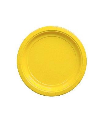 Pratinho de papel - Amarelo 18 cm (10 un)