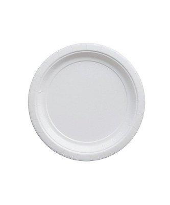 Pratinho de papel - Branco 18 cm (10 un)