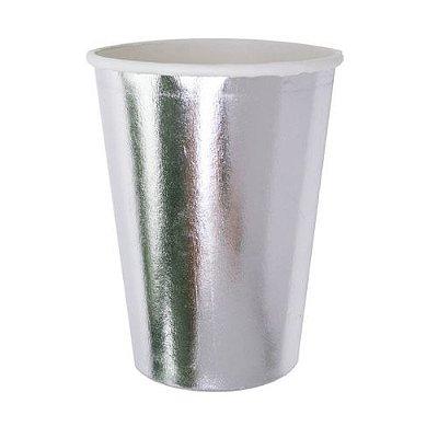 Copo de papel - Prata (10 unidades)