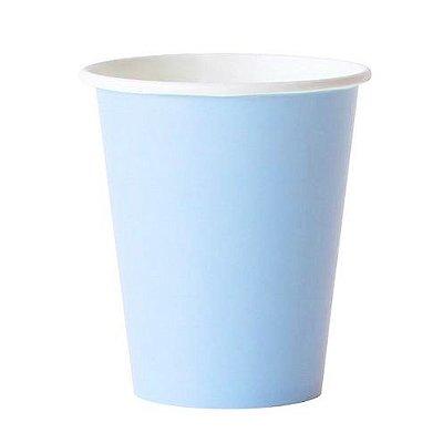 Copo de papel - Azul Claro (10 unidades)