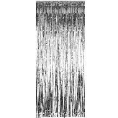Cortina de Franja metalizada - Prata (1x2m)