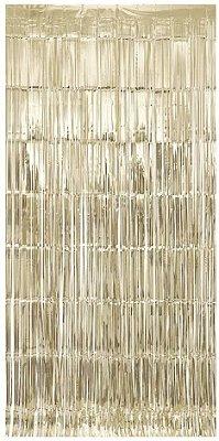 Cortina de Franja metalizada - Dourado Light (1x2m)