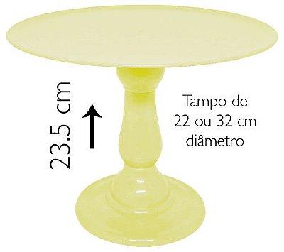 Boleira 23.5 cm altura - Amarelo Claro (escolha o tampo)