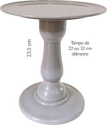 Boleira 23.5 cm altura - Cinza (escolha o tampo)