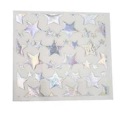 Guardanapo uma face Estrelas - Prata 33 cm (20 un)
