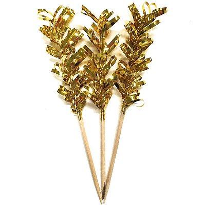 Topper Mini Árvore - Dourada (12 unidades)