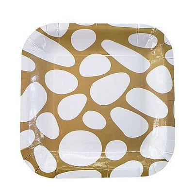 Prato de papel - Safari (8 unidades - 18 cm)