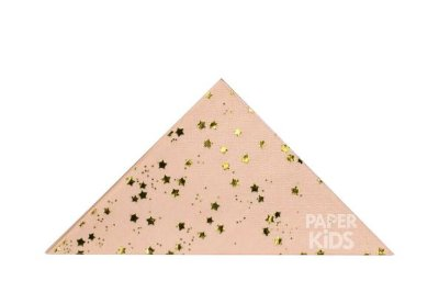 Guardanapo de papel mini Estrelas - Foil Dourado (23 cm - 20 unidades)