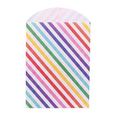 Saquinho de papel - Arco-Íris 12x16 cm (10 unidades)