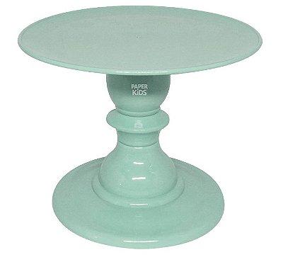 Boleira com pé torneado - Verde Neo Mint