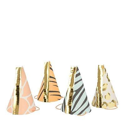 Chapéus de papel - Animal Print (8 unidades - Meri Meri)