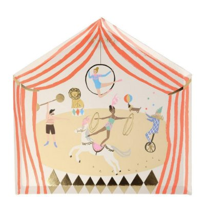 Prato de papel Tenda de Circo - Meri Meri (8 unidades - 24x24 cm)