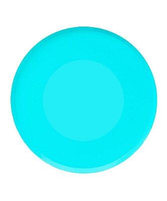 Prato de papel - Azul Claro 23 cm (8 unidades)