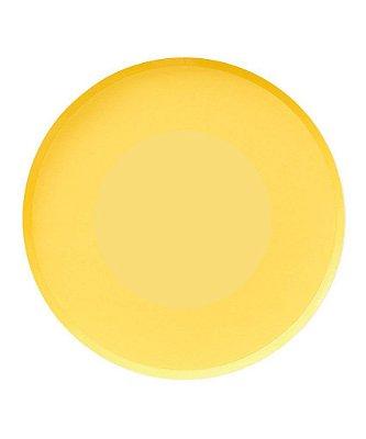 Prato de papel - Amarelo 23 cm (8 unidades)
