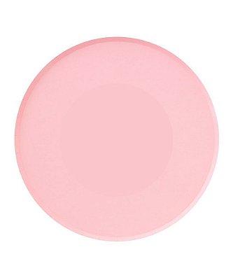 Prato de papel - Rosa 23 cm (8 unidades)