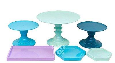 KIT 4 COMEMORE - Tiffany / Verde Candy / Verde Esmeralda / Lilás