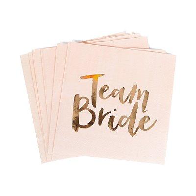 Guardanapo Team Bride (Foil Rose Gold) - 16 cm (20 unidades)