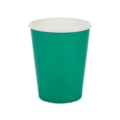 Copo de papel - Verde Bandeira (10 unidades)