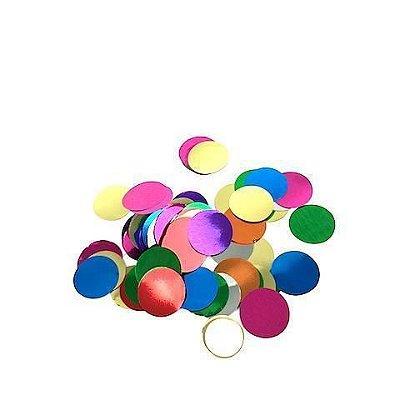 Confete bola metalizado - Mix Cores 2 cm (40g)