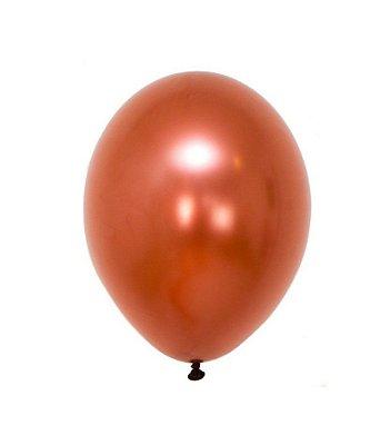 """Balão Chrome Cobre - 11"""" (2 unidades)"""