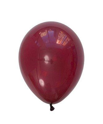 """Balão látex 11"""" - Vinho perolado (unidade)"""