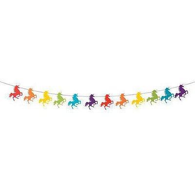 Guirlanda de papel - Unicórnios Coloridos (12 peças)